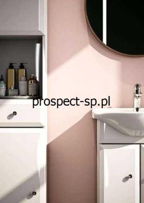 białe meble łazienkowe Koło